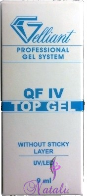 Gelliant Pro. Finish QF IV gel (sin capa pegajosa-without sticky layer) de 9 ml.