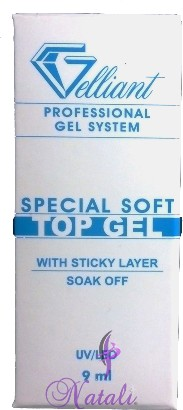 Gelliant Pro. soft Top UV/LED gel de 9 ml.