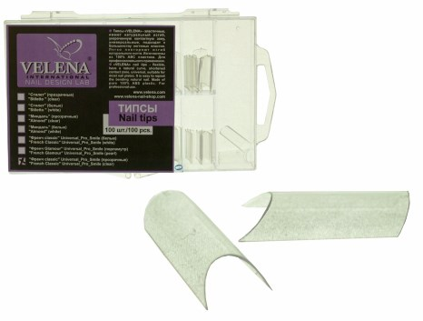 VELENA White tips (100 pcs, Box) French_pro_Clear (PS400 CK)